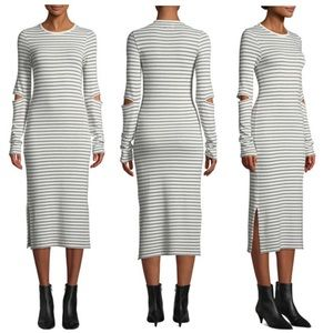 Current/Elliott Quince Striped Cutout Midi Dress